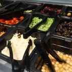 Blacksburg, Va., Feb. 25 - Toppings Bar: Owens dining hall gives students the opportunity to build their own salad with a wide selection of toppings and dressings.