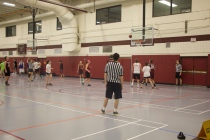 Blacksburg, Va., Feb. 23 - Intramural CoRec Basketball: Virginia Tech students face off in a CoRec playoff game at War Memorial Hall. Photo: Johnny Kraft
