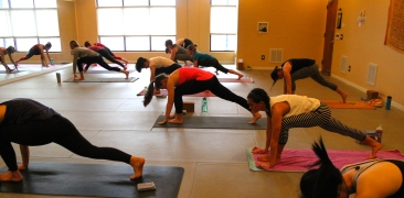 Blacksburg, Va., Feb. 14 - Hot, Hot, Hot: Hot Vinyasa yoga is performed in a room typically heated from 85 to 90 degrees. Photo: Haven Lewis