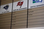 """Blacksburg, Va., Sept. 6- FROM NO TO PRO: Cody Grimm, a preferred walk-on turned NFL draft pick, is among the many Virginia Tech walk-ons to don a spot on the """"Hokies in the NFL"""" wall. Photo: Blayne Fink"""