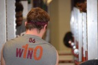 Blacksburg, Va., Feb. 6- GEAR: Preferred walk-on players are given the same gear as that of scholarship players, such as the w1n-0 training tops Carroll sports here. Photo: Blayne Fink