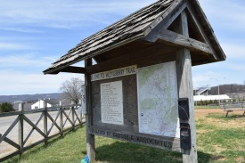 Blacksburg, Va, April 2-Huckleberry Trail Map: Pay attention to maps and have a plan before the adventure begins. Photo: Becky Shumar