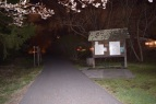 Blacksburg, Va, March 31-Adventuring at Night: Officer Guilliams recommends that people stay off trails when it is dark outside. It is safest to stay in lit areas. Photo: Becky Shumar