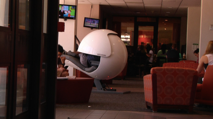 students recharge in the energy pod | the news feed