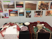 Blacksburg, Va. Oct. 23 - Oman Showcase: Pictures and objects promoting the Oman study abroad program on the first floor of Newman Library. The first floor of Newman has rotating exhibits throughout the year. Photo: Humberto Zarco