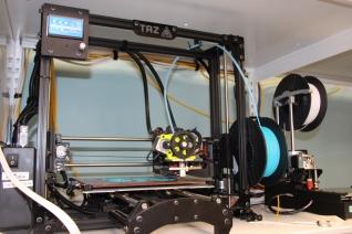 Blacksburg, Va., Oct. 22 - Printing the Future: A 3-D printer at the 3-D Design Studio located at Newman Library. Photo: Humberto Zarco