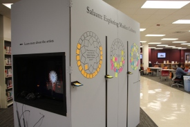 Blacksburg, Va., Oct. 23 - Interactive Exhibit: An interactive exhibit on Muslim culture located on the first floor of Newman Library. Photo: Humberto Zarco