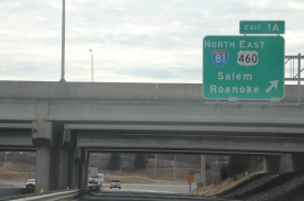 BLACKSBURG, V.a., Feb. 6 - Exits such as this one are subject to traffic congestion and accidents. Senate Bill No. 971 aims to reduce said accidents with its proposed corridor improvement plan. Photo: Cody Davis