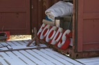 Dublin, Va., Feb. 2, 2018 – Food Sign: This storage container is refashioned as an art installation. The festival features local vendors who serve food near the staging area. Photo Credit: Brendan Quinn