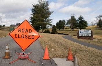 BLACKSBURG, Va., Feb. 15 - Willard Drive will remain closed until construction is complete. Photo: Alexis Walsh