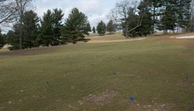 BLACKSBURG, Va., Feb. 15 - The different color flags placed throughout the course represent the grass quality. Photo: Alexis Walsh