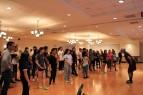 BLACKSBURG, Va., March 14 – Final Prep: AJ Campanilla teaches the curtain call dance at the final rehearsal, which lasted five hours. Photo: Kat Schneider