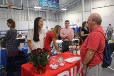 Christiansburg, Va., Sept. 19- Learn more: Over 100 exhibitors came to the fair to provide information on numerous topics. Photo: Billy Parvatam