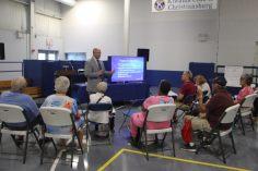 Christiansburg, Va., Sept. 19- Aging gracefully: Senior citizens get a presentation on housing options for retirement. Photo: Billy Parvatam
