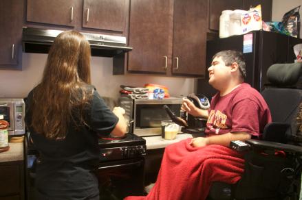 Sara Margagret Cooking for Matthew