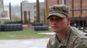 Blacksburg, Va., Nov. 28 – Chris Elmer: Chris is set to graduate in December. After, he will begin working as an EOD technician in the Army. Photo: Zack Perhach