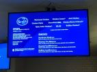 Blacksburg, Va. Feb.19, 70 Seven Deli's Menu – On a digital screen one may find all the menu options 70 Seven Deli offers. Along with the buffalo cauliflower wrap, one may also purchase a roasted cauliflower wrap. Photo by: Tatjana Kondraschow