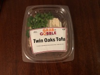 Blacksburg, Va. Feb.19, Twin Oaks Tofu – This is one of the many options that is available for vegan eaters. Those who purchase the tofu can either eat it cold or bring it home to sauté. Photo by: Tatjana Kondraschow