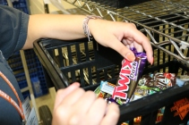 Blacksburg, Va., March 4 - Expired Goods: Employees of the Convenience Store are responsible for removing expired goods from the shelves and placing them in a bin in the back office.