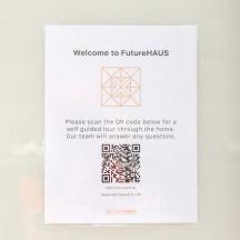 Blacksburg, Va., April 24 - Self guided tour: Visitors can access their own personal guide using a QR code in order to learn more about the Futurehaus. Photo: Sydney Ditmar