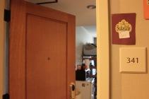 Blacksburg, Va., Sep. 26 - ROOMIES: Dent lives in a triple room at The Inn.